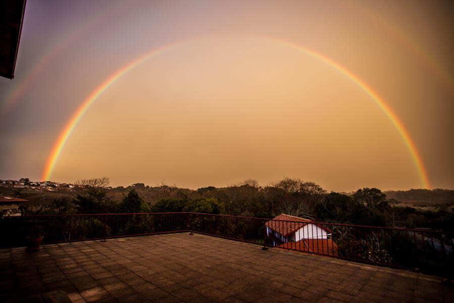 arc en ciel sur ma terrasse